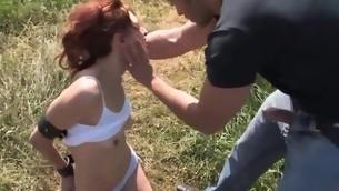 rødhårete tenåring blowjob fetish bondage bdsm kinky hardcore utendørs voyeur