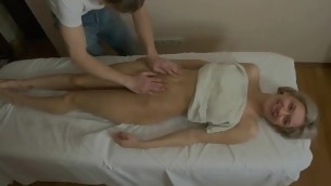 Hunk is delighting exposed beauty in sensual oil massage