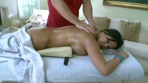 Sweet chick gets a carnal massage in advance of doggystyle sex