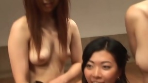 Horny Oriental cutie rides up penis increased by starts bounding on it
