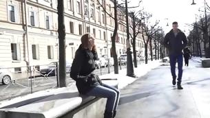 tenåring blowjob virkelighet brunette barbert fitte naturlige pupper hardcore utendørs amatør russisk