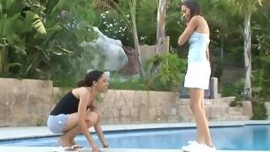tenåring blowjob hardcore utendørs amatør bikini