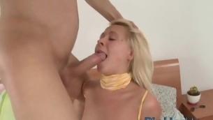 tenåring blowjob blonde hardcore amatør små pupper tynn