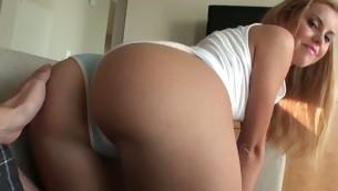 tenåring babe brunette hardcore ass amatør russisk synspunkt ridning truser