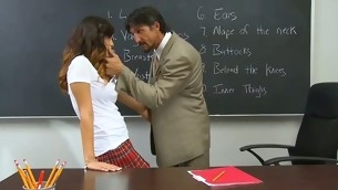 Wicked schoolgirls smack each other