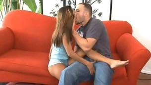 tenåring babe kyssing brunette naturlige pupper hardcore kjønn puling honning