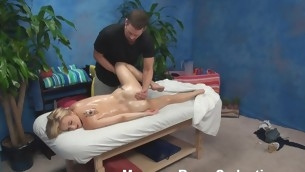 Blond nymph becomes absolutely in nature's garb with the addition of then lies on massage table. That Babe just wants to be massaged but then her craves change when that babe sees the attractive masseur. Watch what they are rendition in this scene.