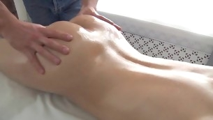 Sexy beauty is enjoying each single momeny of her oil massage