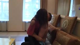 tenåring babe kyssing brunette hardcore amatør kjæresten kjønn hjem soverom